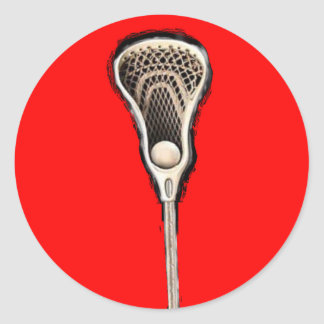 Lacrosse Stick Classic Round Sticker