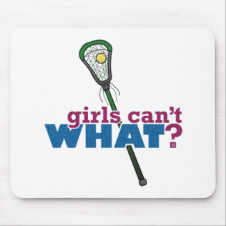 Lacrosse Stick Green Mouse Pads