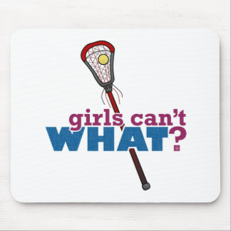 Lacrosse Stick Red Mouse Pad