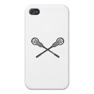 Lacrosse Stick Woodcut Cases For iPhone 4