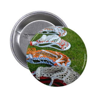 Lacrosse sticks 6 cm round badge
