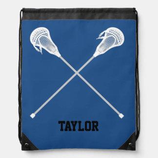 Lacrosse sticks Name Customize Drawstring Bag