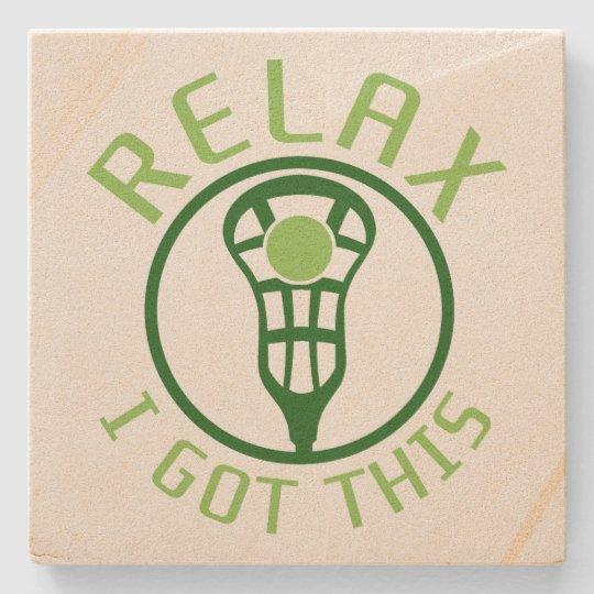 Lacrosse Stone Coaster, ReLAX I Got This Stone Coaster