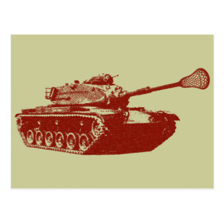 Lacrosse Tank Post Cards