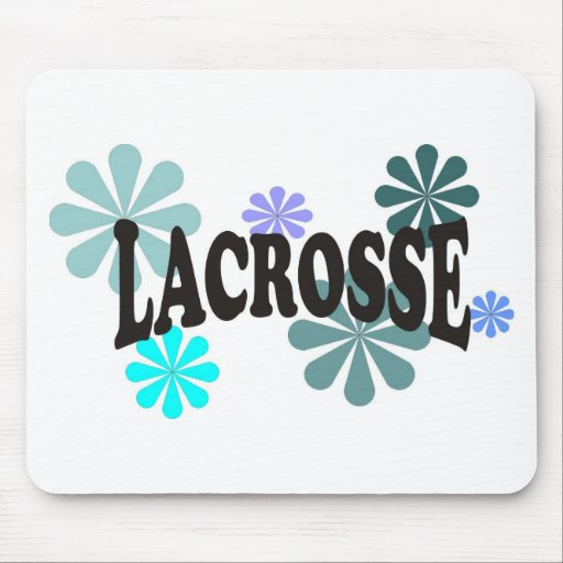 Lacrosse with Blue Flowers Mouse Pads