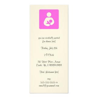 """Lactation Consultant 4"""" X 9.25"""" Invitation Card"""