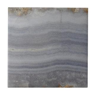 Lacy Blue Agate Natural Cabochon Ceramic Tile