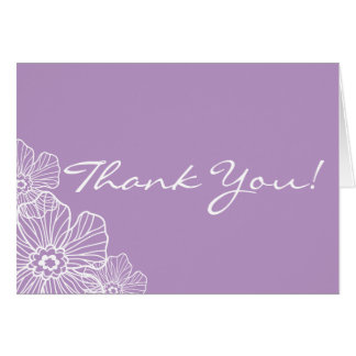 Lacy Floral Thank You Note Card | mauve