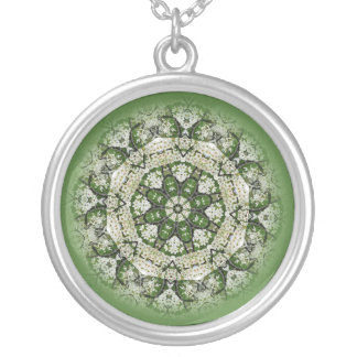 Lacy Flower Garden Silver Plated Necklace