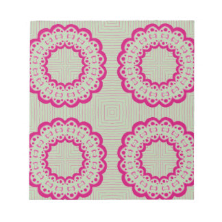 Lacy flowers notepad