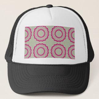 Lacy flowers trucker hat