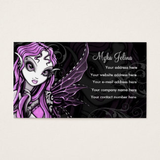 """Lacy"" Gothic Pink Valentine Fairy Buisness Card"