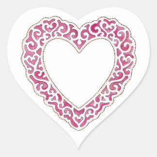 Lacy Heart Heart Sticker