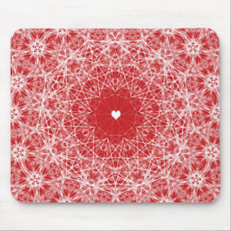 Lacy Heart Valentine Mouse Pad