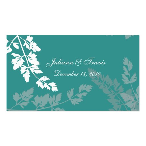 Lacy Leaves/ Escort Card Business Card Template