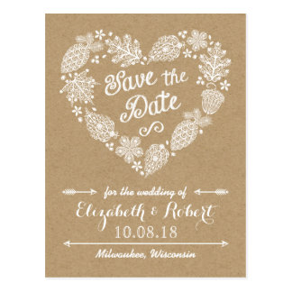 Lacy Leaves - Fall in Love Save the Date