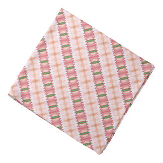 Lacy Pink, Peach & Green Stripes Kerchief