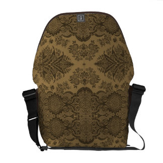Lacy Vintage Floral in Brown Commuter Bag