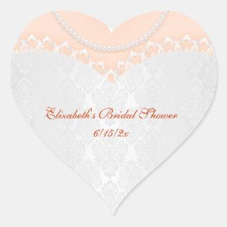 Lacy Wedding Gown Heart Sticker