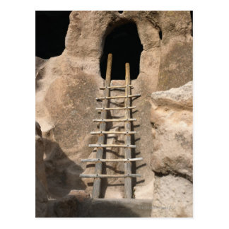 Ladder and Entrance of Cliff Dwelling Postcard