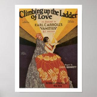 Ladder of Love Vintage Music Sheet Cover Poster