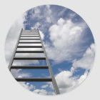 Ladder to Success Classic Round Sticker
