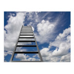 Ladder to Success Postcard