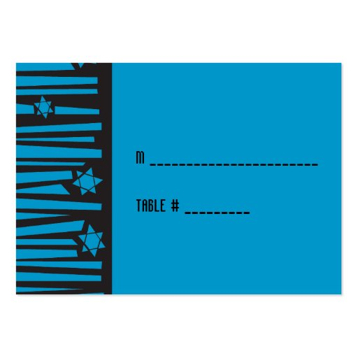 Ladder to the Stars Bat Bar Mitzvah Seating Card Business Cards