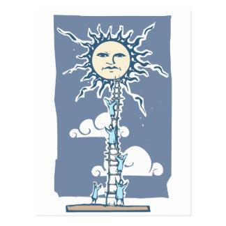 Ladder to the Sun Postcard