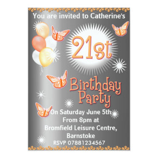 Ladies 21st Birthday Party Invitation