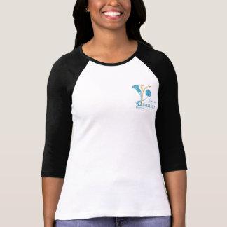 Ladies 3/4 Sleeve Fitted B&W - EIF Design & Logo Tshirts