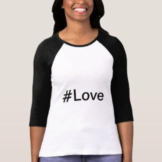Ladies 3/4 Sleeve Raglan (Fitted), White/Black Shirts