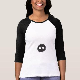 Ladies 3/4 Sleeve Raglan (Fitted), White/Black T-Shirt