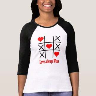 Ladies 3/4 Sleeve Raglan -LOVE ALWAYS WINS T-Shirt