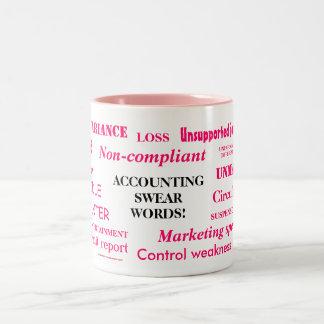 Ladies Accounting Swear Words! Female Accountant Two-Tone Coffee Mug