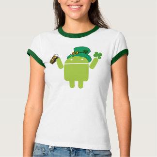 Ladies Android Leprechaun Ringer Shirt