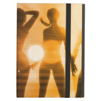 Ladies at the Beach with Silhouette iPad Air Cover