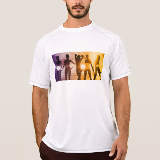 Ladies at the Beach with Silhouette T-Shirt