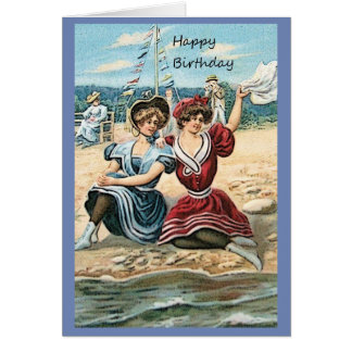 Ladies at the Seaside Birthday Card