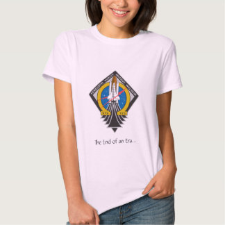 "Ladies Atlantis STS-135 ""End of an Era"" Baby Doll  Shirts"