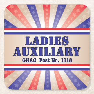 Ladies Auxiliary Patriotic Coasters