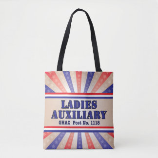 Ladies Auxiliary Patriotic Tote Bag- Post No.