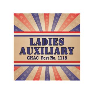 Ladies Auxiliary Wooden Wall Art