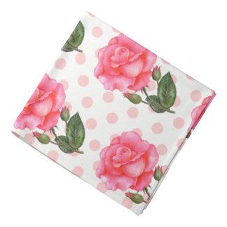 Ladies Bandana Pink Roses