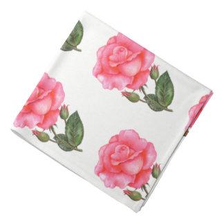 Ladies Bandanna Pink Roses