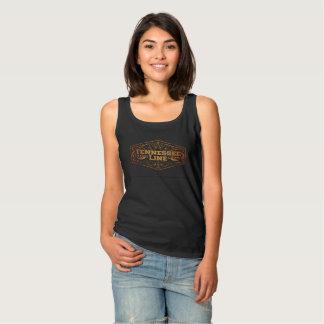 Ladies Basic Black Tank Logo Gold