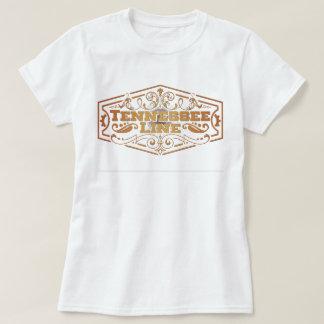 Ladies Basic White Tee Logo Gold