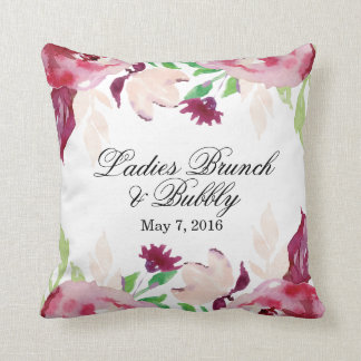 Ladies Brunch & Bubbly Throw Pillow