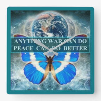 ladies butterfly peace clock