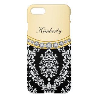 Ladies Classy Damask Bling iPhone 8/7 Case